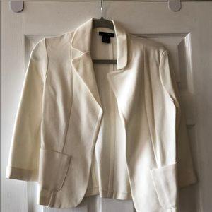 White soft blazer